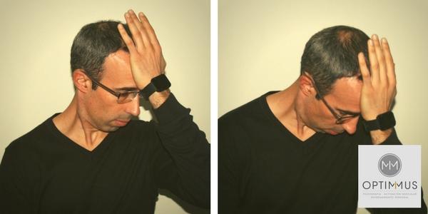flexión cuello